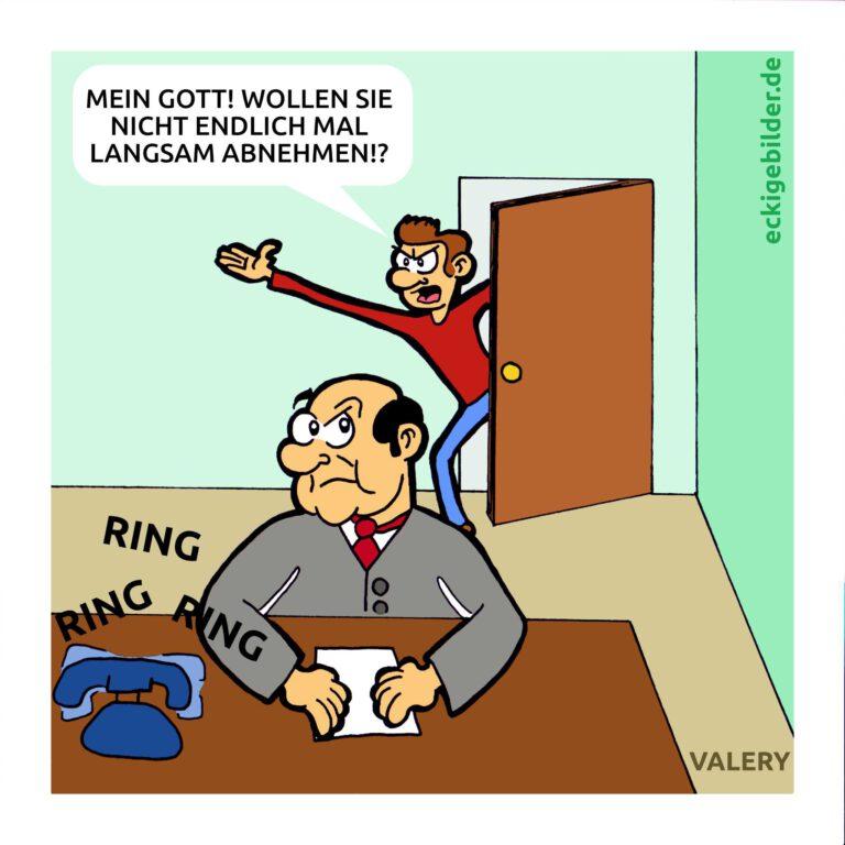 Abnehmen Büro Cartoon