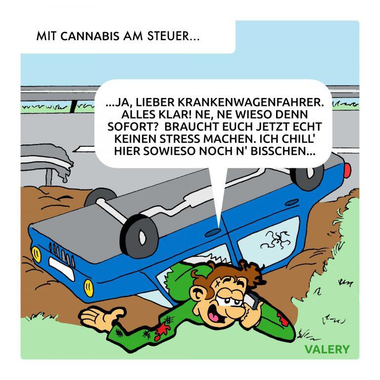 Autounfall Autobahn Cannabis