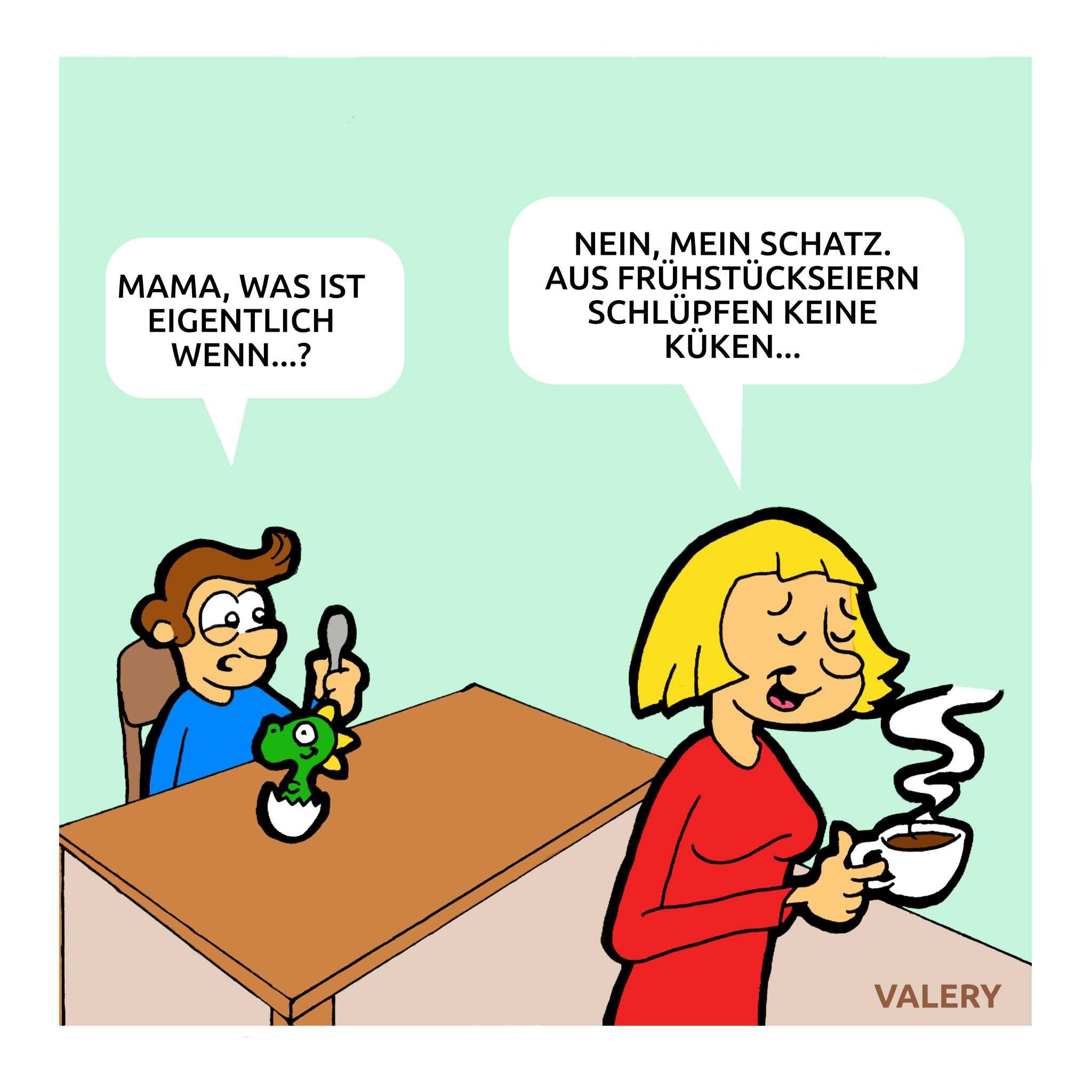 Dino Frühstücksei Cartoon