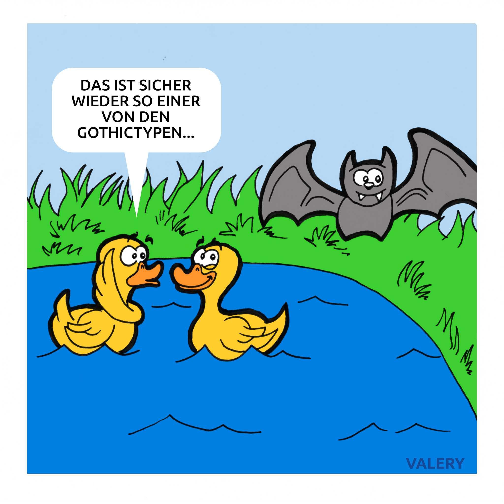 Enten Fledermaus Cartoon
