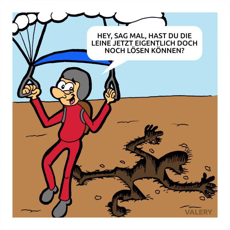 Fallschirmspringer Cartoon