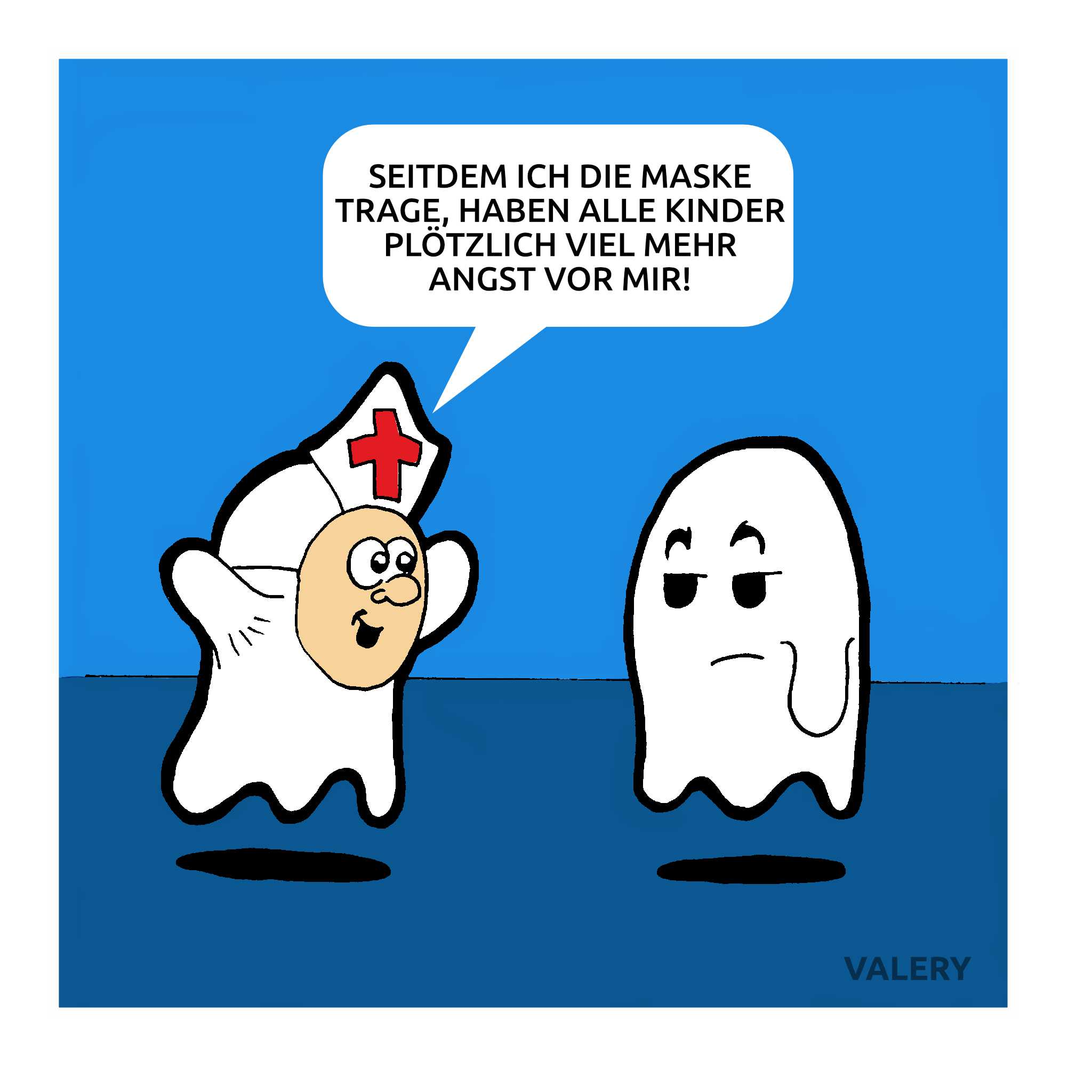 Geister Priester Cartoon