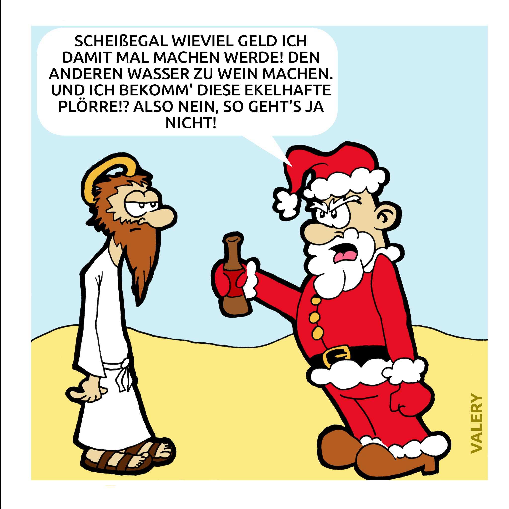 Jesus Weihnachtsmann Cartoon