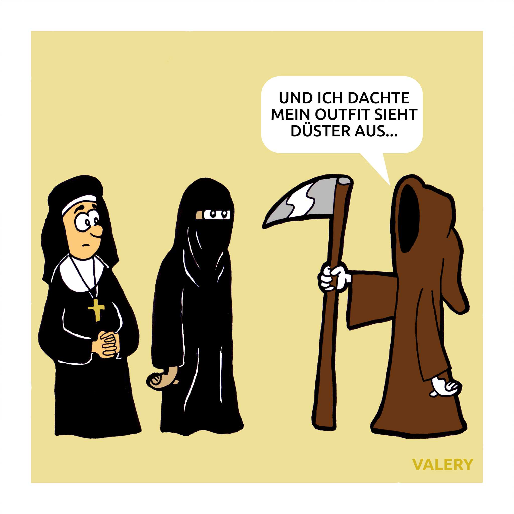 Nonne Muslime Tod Cartoon