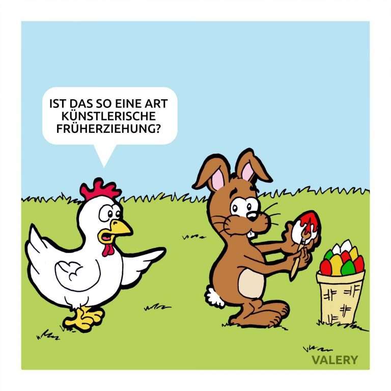 Osterhase Hühner Früherziehung Cartoon