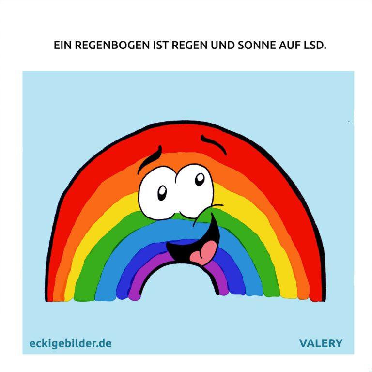 Regenbogen LSD Cartoon