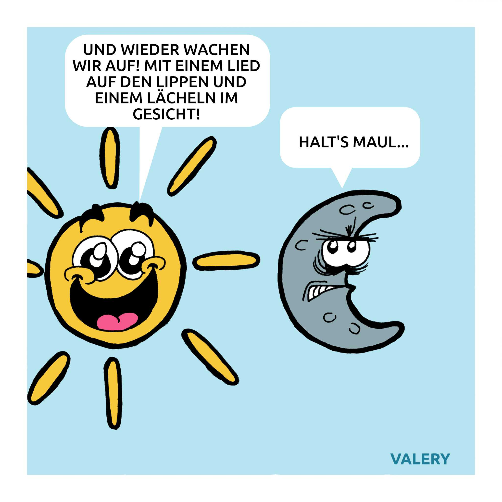 Sonne Mond Cartoon