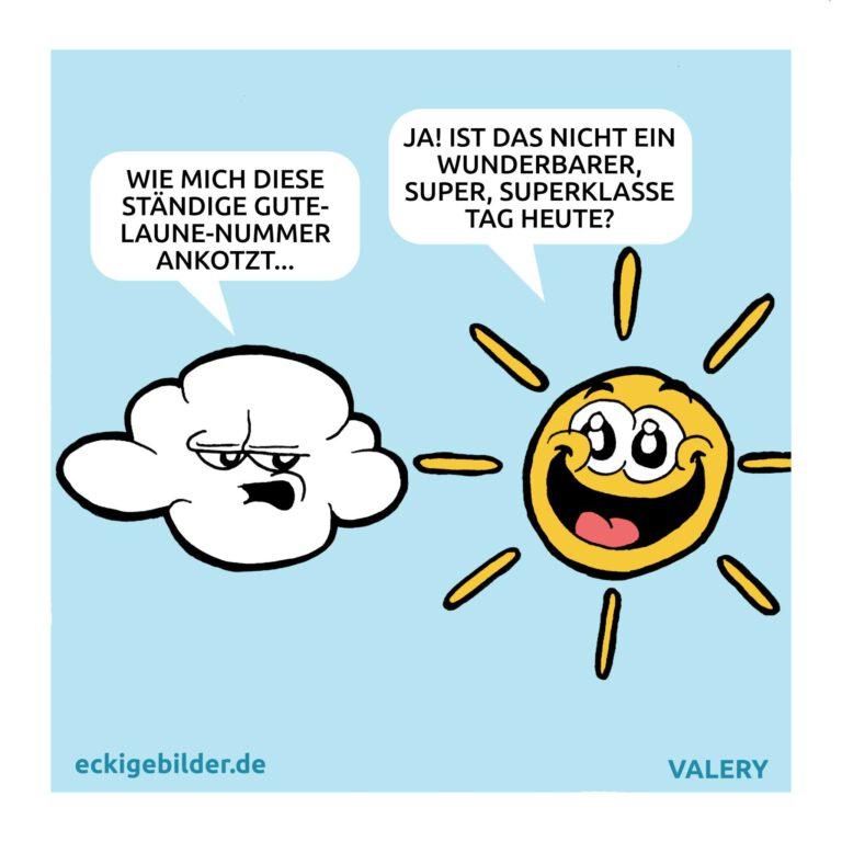 Sonne Wolke Cartoon