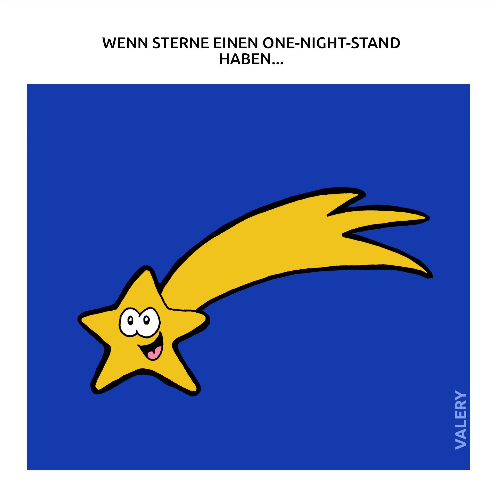 Sternschnuppe One-Night-Stand Cartoon