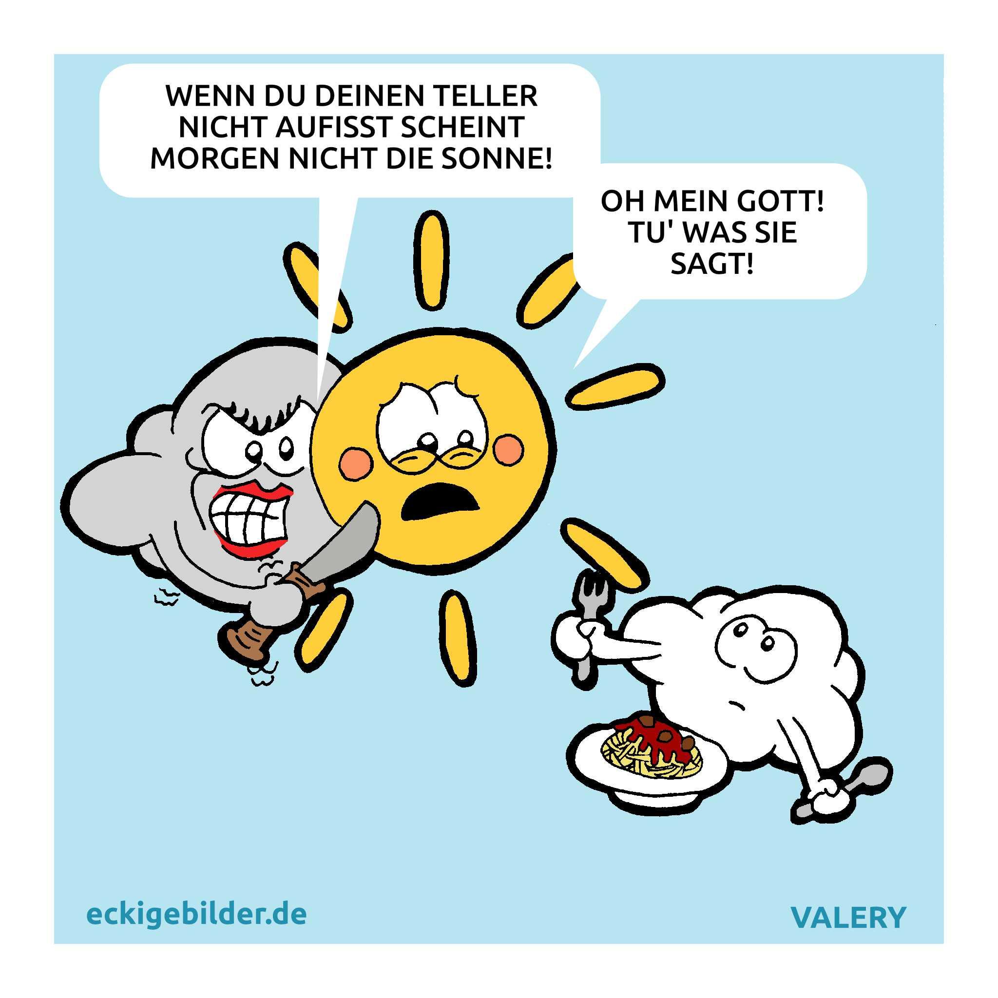 Wolke Mutter Essen Cartoon