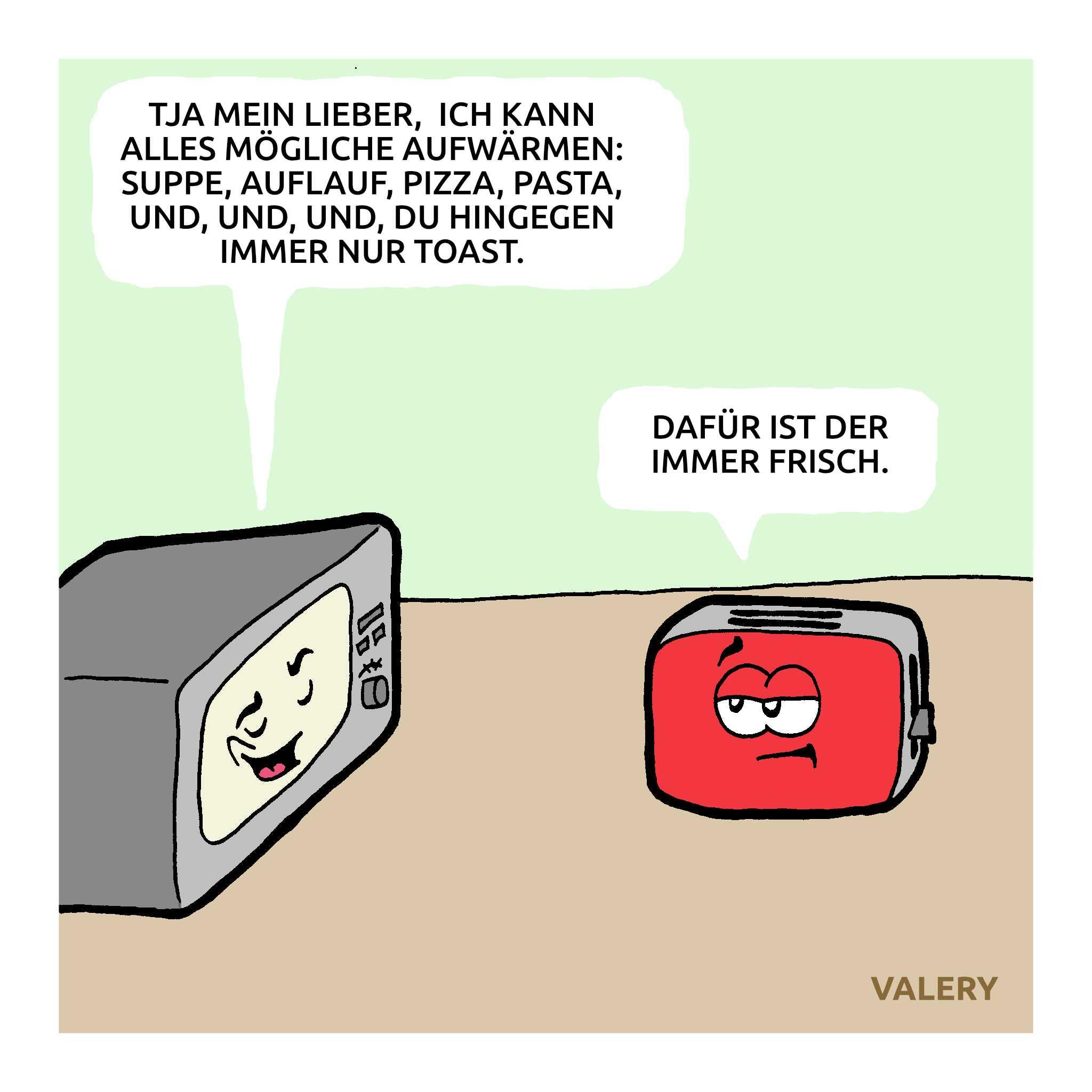Mikrowelle Toaster Haushaltsgeräte Cartoon