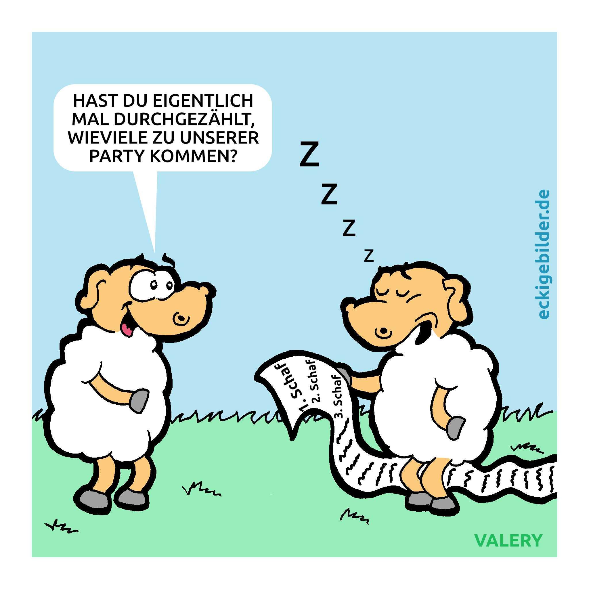 Schafe Cartoon