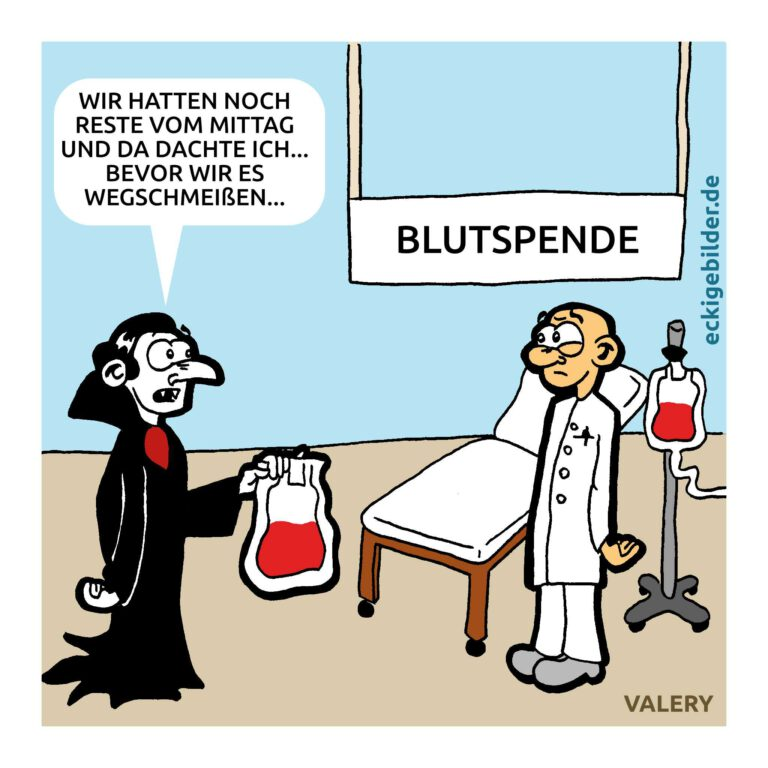 Vampir Blutspende Cartoon