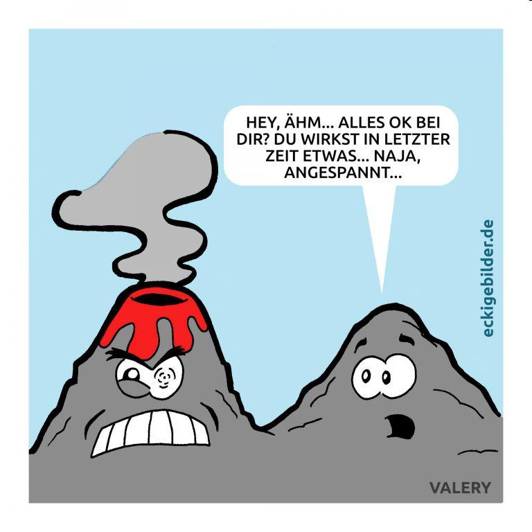 Vulkan Cartoon