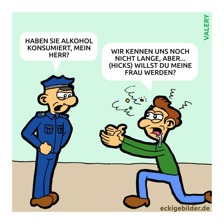 Polizei Heiraten Cartoon