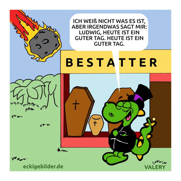 Dino Bestatter Cartoon