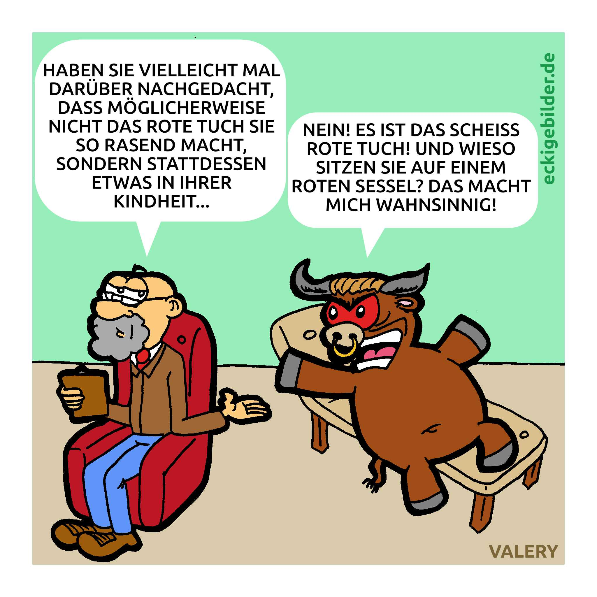 Psychotherapie Cartoon