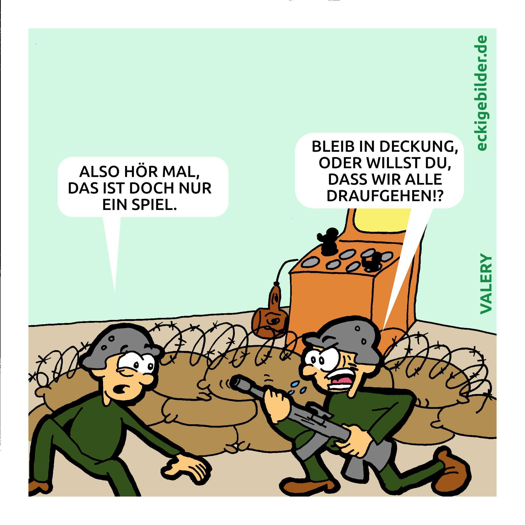 Militär Cartoon