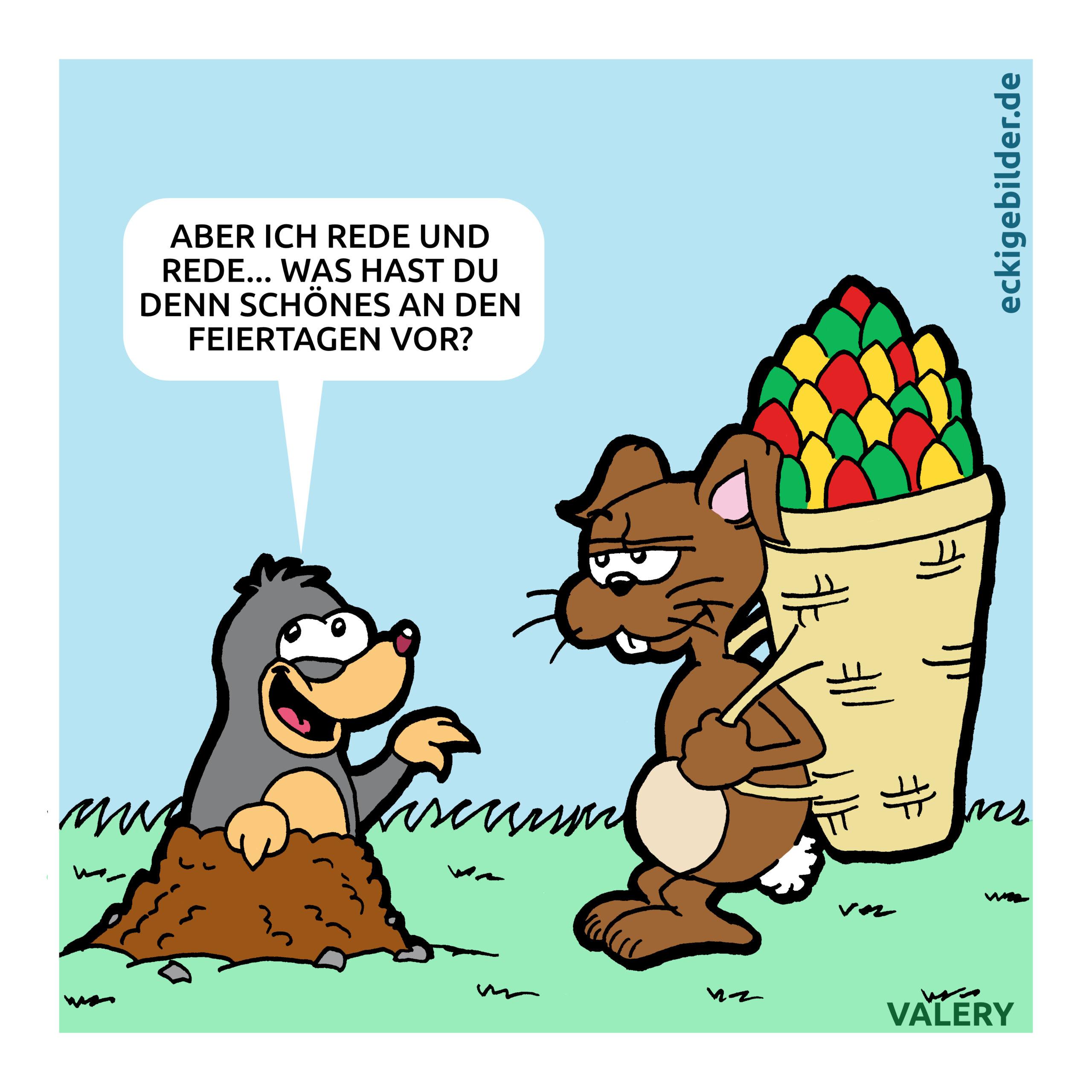 Osterhase Maulwurf Cartoon