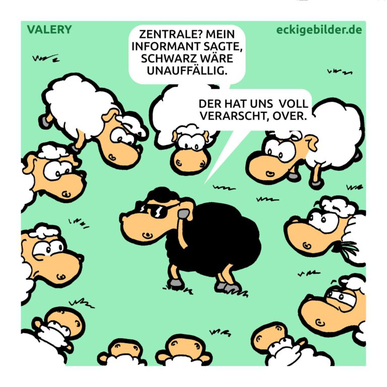 Schaf Geheimagent Cartoon