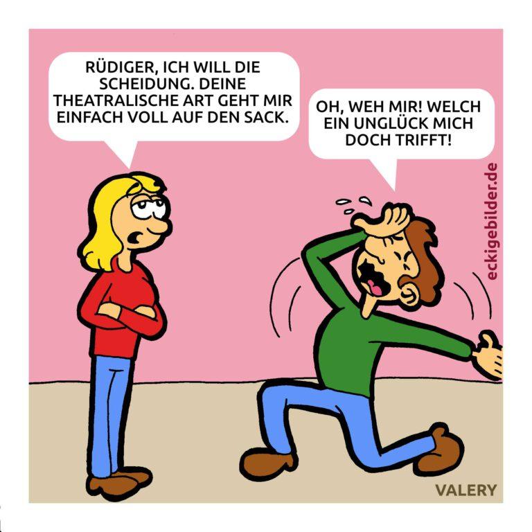 Scheidung Cartoon