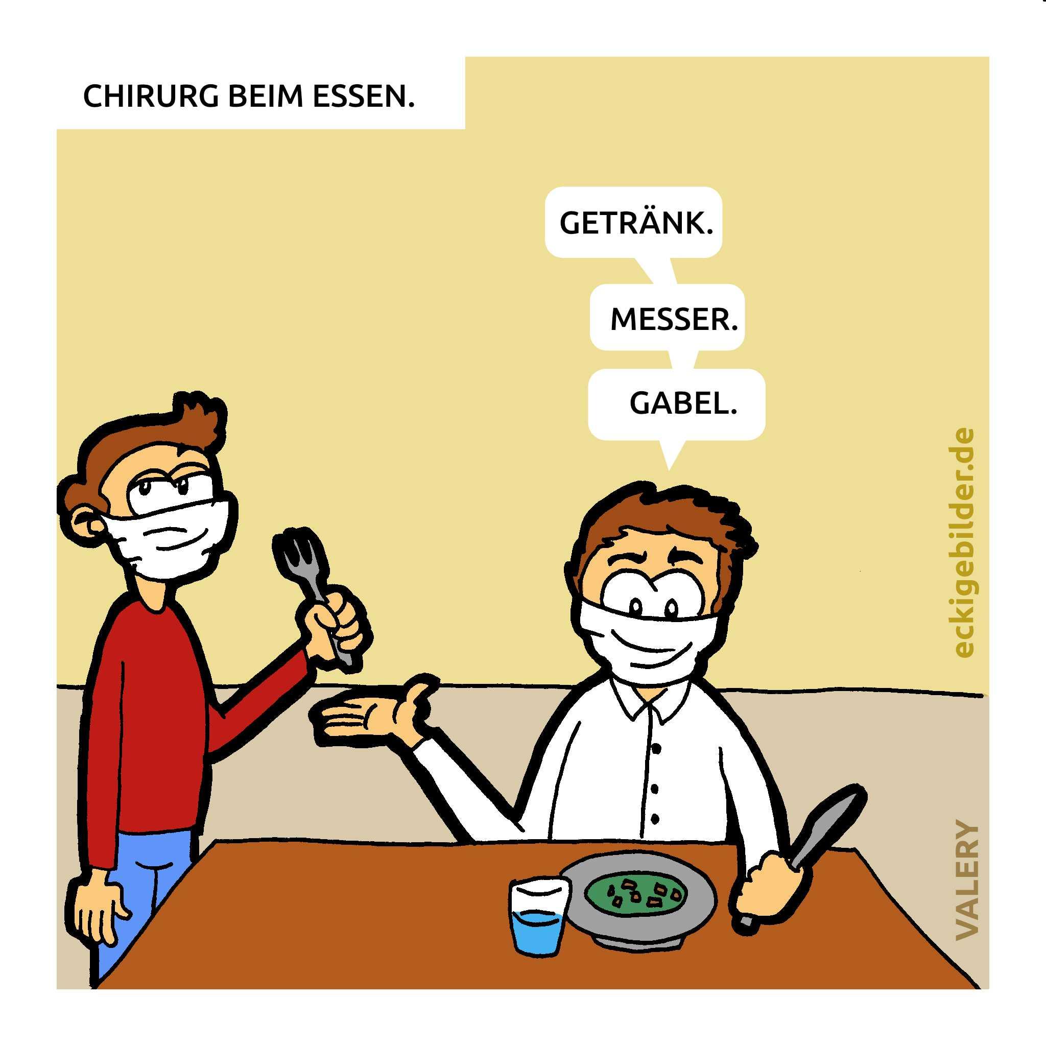 Chirurg Essen Cartoon